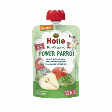 Holle有機唧唧裝菠菜蘋果洋梨蓉
